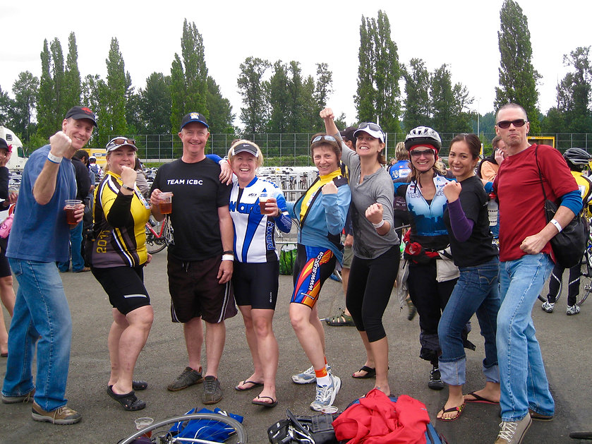 Ride to Conquer Cancer | photo of me & team | cycle Vancouver to Seattle