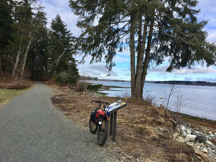 Royston seaside trail | south of Courtenay | cycle touring Vancouver Island