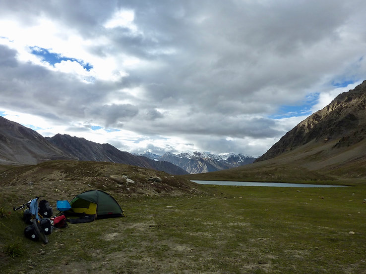 Hilleberg Rogen cycle touring tent | cycle touring Ladakh, north India