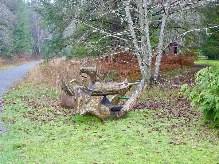 Local art along the Cowichan Valley Trail | Trans Canada Trail | cycle touring south Vancouver Island