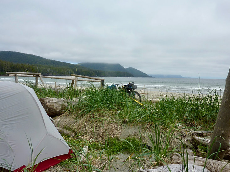 Grant Bay Park Campground | west of Winter Harbour | bikepacking NW Vancouver Island