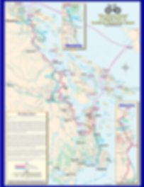 Victoria Nanaimo cycling route map | Vancouver Island cycle touring routes