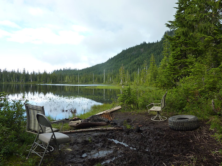 high altitude Lyon Lake Camp | bikepacking up from Halfmoon Bay | bike touring Sunshine Coast