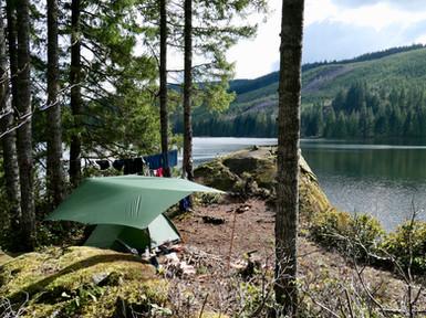 Informal Wolf Lake camp