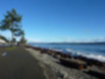 Campbell River seaside trail | cycle touring Vancouver Island