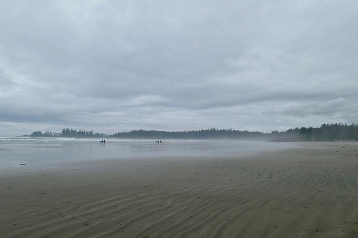 Long Beach, near Green Point Campground | cycling Port Alberni to Tofino | cycle touring Vancouver Island