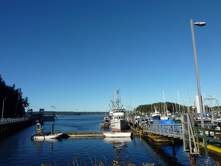 Quathiaski Ferry Terminal | Quadra Island, off Campbell River | cycle touring Gulf Islands