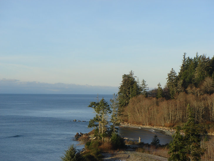 cycle touring West Coast Road | near Port Renfrew | cycle touring south Vancouver Island