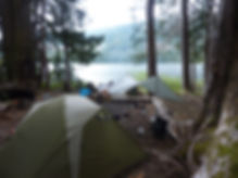 Camping at NE Labour Day Lake | bikepacking Vancouver Island