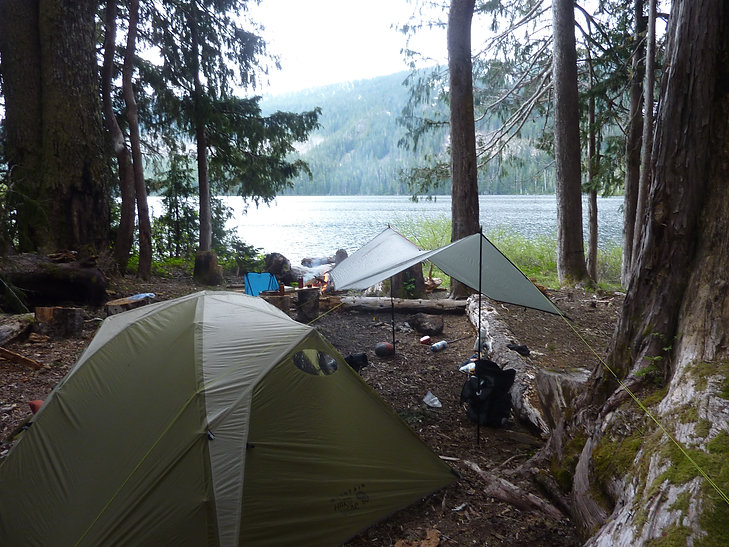 Camping at NE Labour Day Lake | bikepacking Vancouver Island