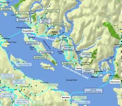Sunshine Coast area - overview map