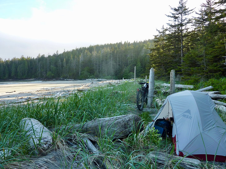 Grant Bay Campground | MSR Hubba discussion | cycle touring tents