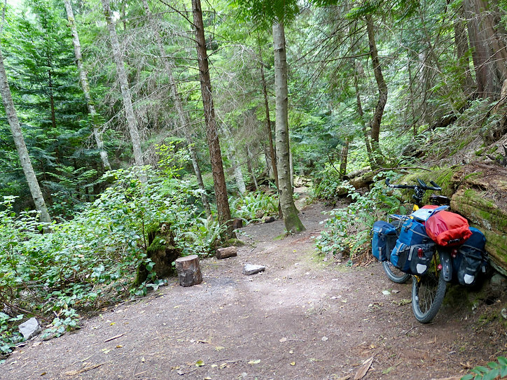 Smuggler Cove Provincial Caznmpground | cycle touring Sunshine Coast | fav campground