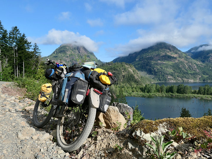 bikepacking Museum Main to Bamfield Highway | from Upper Nitinat River Valley | cycle touring Vancouver Island