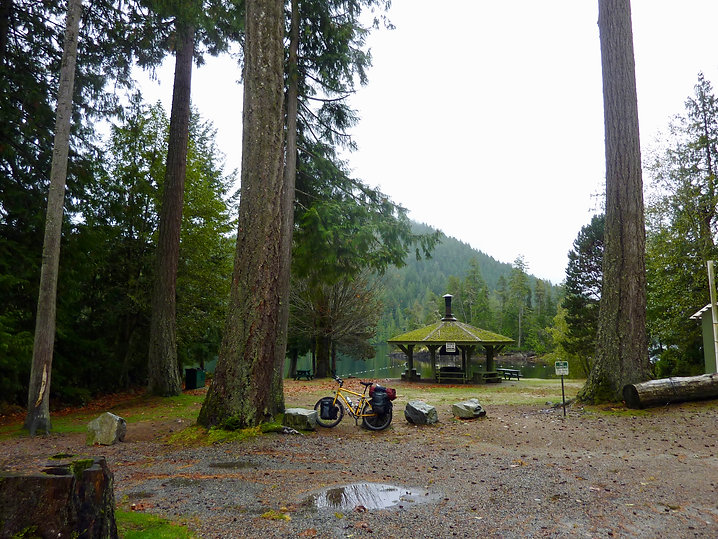 Haywire Bay Regional Campground | Powell Lake, NE of Powell River | bike touring Sunshine Coast