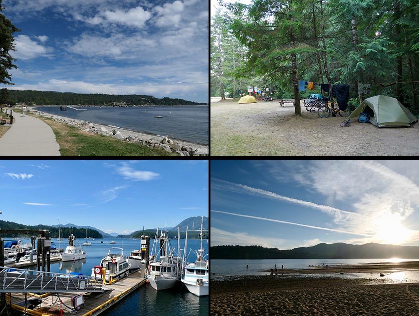 Sechelt & Porpoise Bay Provincial Park | bike touring Sunshine Coast