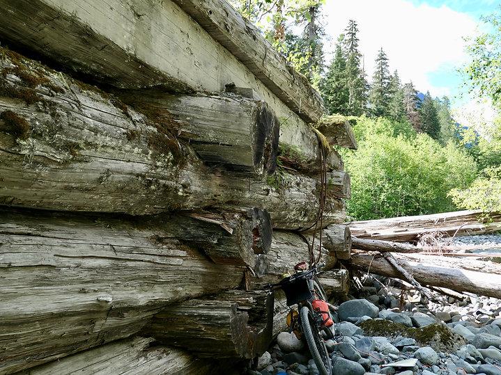 Decommissioned Stewart bridge | White River Main | bikepacking north Vancouver Island