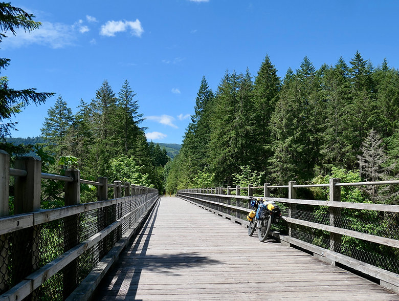 Cycle touring Cowichan Valley Trail | trestle bridges | cycle touring Vancouver Island