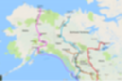 cycle touring route map | Alaska, Yukon, NWT | cycle touring the far north