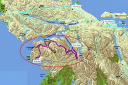 Side Bay Route Map