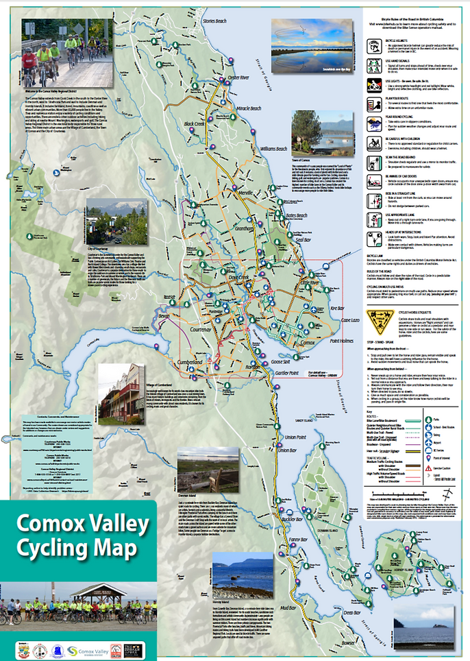 Comox Valley Regional Cycling Map | cycle touring Comox Valley | Comox Valley Cycling Coalition