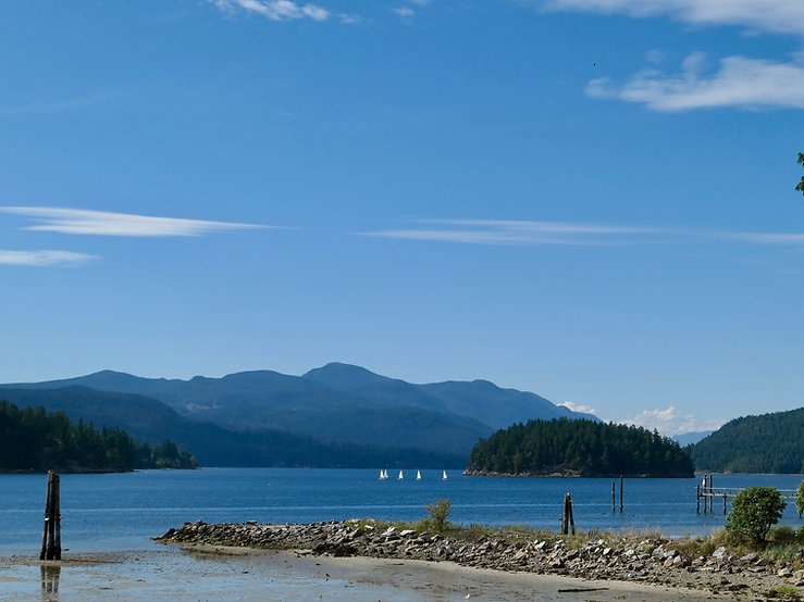 Sechelt Inlet outside Sechelt | bike touring Sunshine Coast | Porpoise Bay Provincial Campground