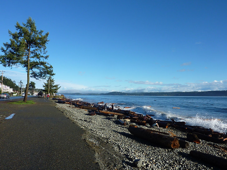 Campbell River seaside walkway | cycle touring Vancouver Island