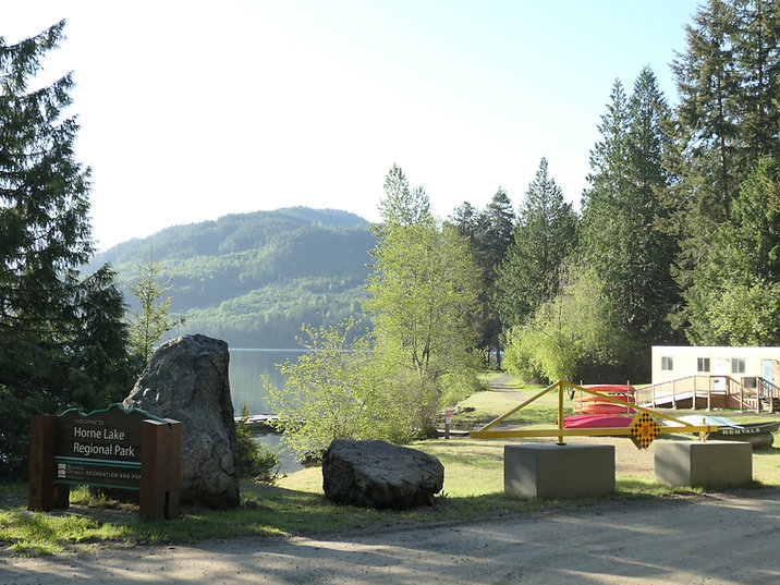 Horne Lake Regional Campground | cycle touring Horne Lake