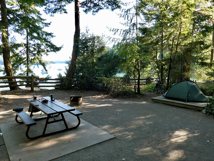 Montague Harbour Provincial Marine Campground | cycle touring Galiano island | south Gulf Islands