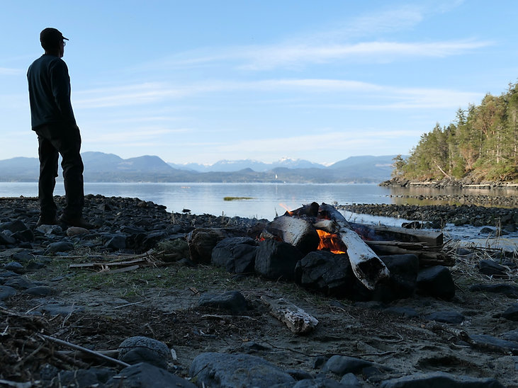 NE Bay Camp | bikepacking Texada Island | bikepacking Gulf Islands