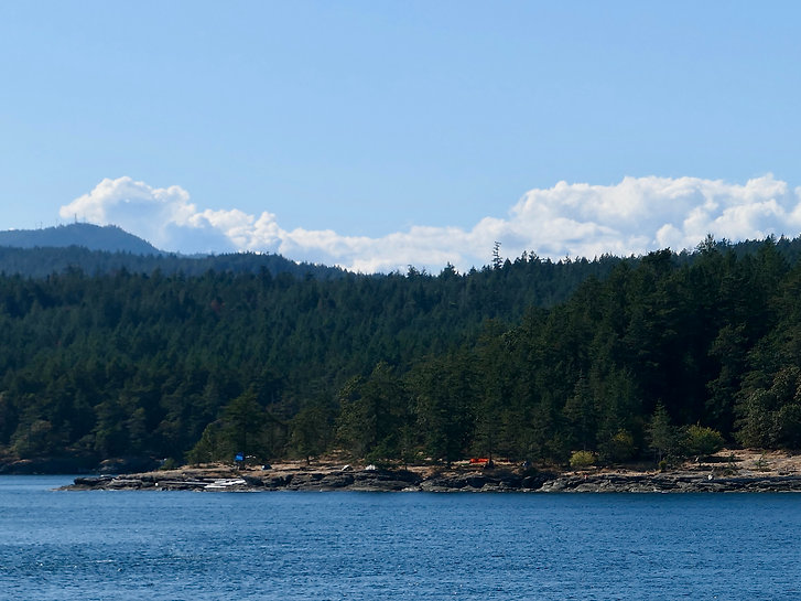 Ruckle Provincial Park Campground | cycle touring Saltspring Island | cycle touring Vancouvr Island