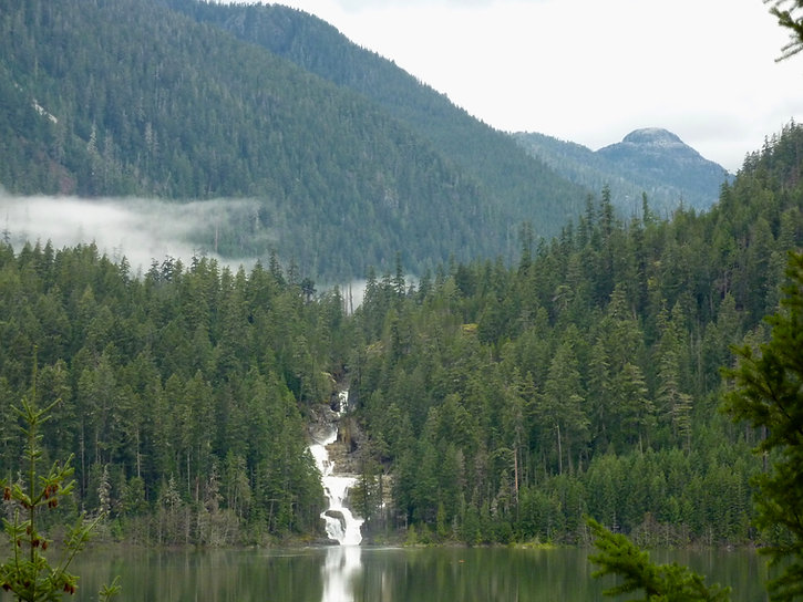 Lower Myra Falls, Buttle Lake | cycling Strathcona Provincial Park  | cycle touring Vancouver Island