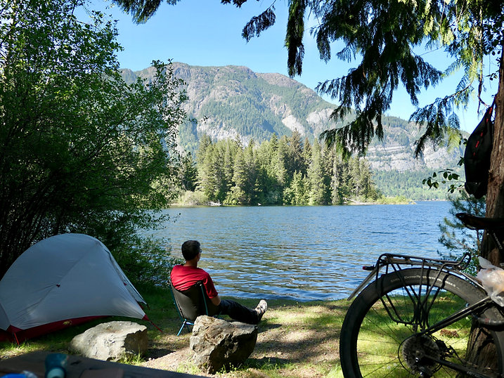 Horne Lake Regional Campground | cycle touring Horne Lake | bikepacking central Vancouver Island