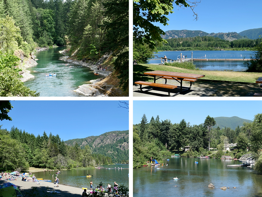 Cowichan Valley swimming & tubing | Cowichan Lake & Cowichan River | cycle touring Vancouver Island