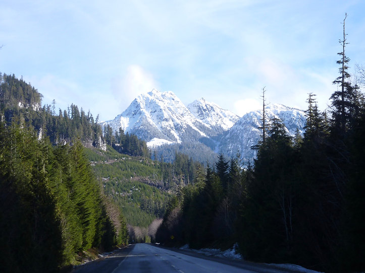 North Island Highway | south of Woss | cycle touring north Vancouver Island