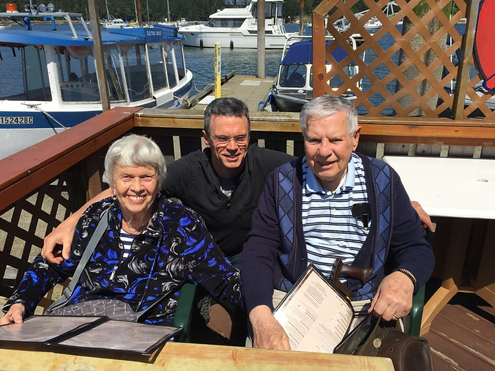 With parents, Protection Island, Nanaimo Harbour. About me