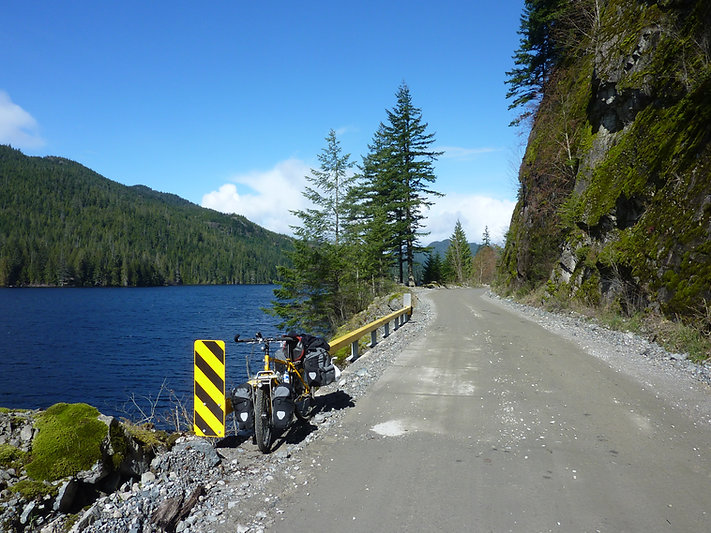 bikepacking McCreight Lake | cycle touring Vancouver Island | north from Campbell River