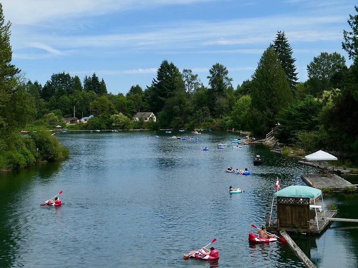 Tubing & swimming the Cowichan River | cycling Cowichan Lake | cycle touring Vancouver Island