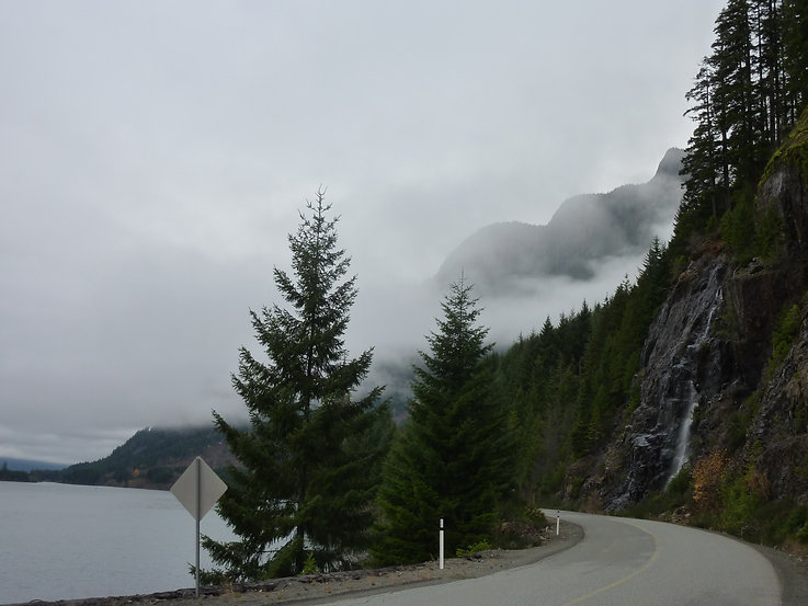 cycling east Buttle Lake | Ralph River Rec Camp | cycling Strathcona Park | cycle touring Vancouver Island