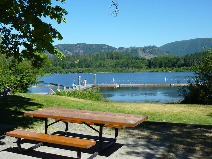 Bear Lake Park in Mesachie | cycling Lake Cowichan | cycle touring Vancouver Island