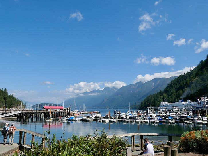 Horseshoe Bay ferry terminal | cycle touring ferry connections | to Vancouver Island & Sunshine Coast