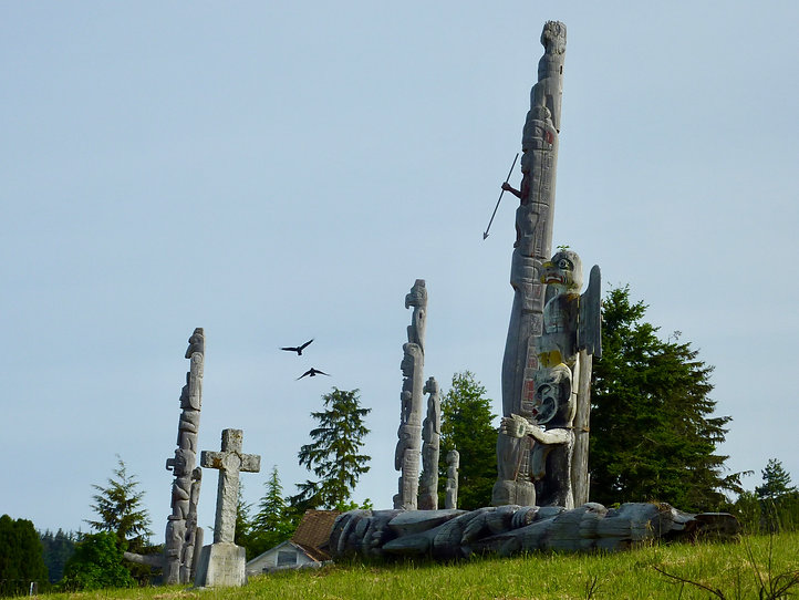 'Namgis Burial Ground | Alert Bay on Cormorant Island | cycle touring north Vancouver Island