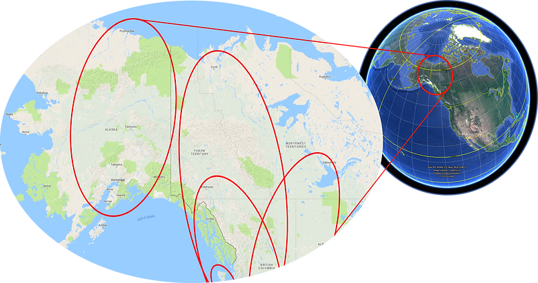 Far north location map | cycle touring Yukon | cycle touring Alaska | cycle touring NWT