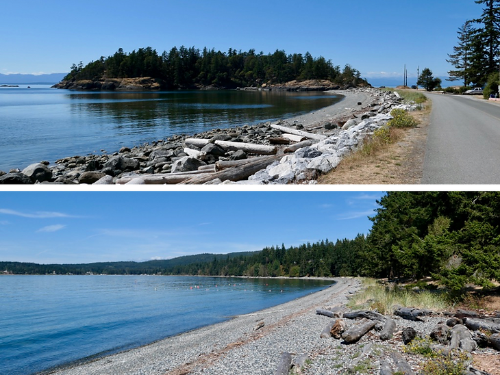 Shelter Point Regional Campground | cycle touring Texada Island |  cycling north Sunshine Coast
