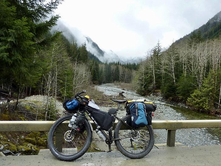 Surly ECR loaded for bikepacking | bikepacking frame bag & handlebar bag