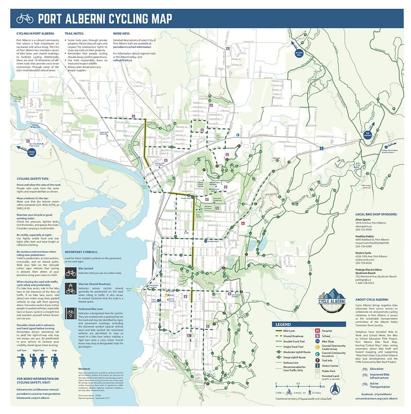 Port Alberni Cycling Map | cycle touring Port Alberni