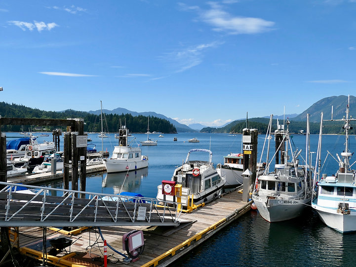 Sechelt marina | cycle touring Sunshine Coast | Porpoise Bay Provincial Campground