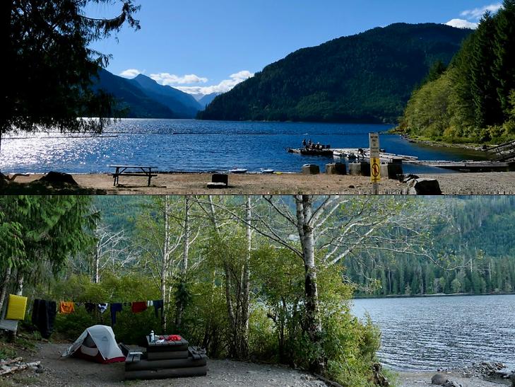 Muchalat Lake Rec Campground, Gold River, Backroads bike tour, Nimpkish Main