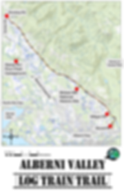 Log Train Trail Map | cycling Log Train Trail | cycle touring Port Alberni