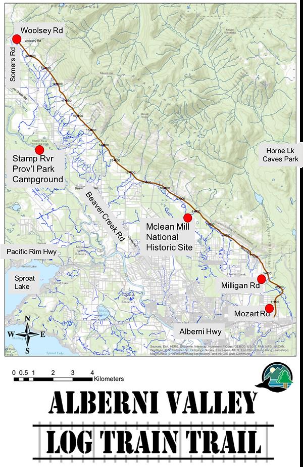 Log Train Trail Map | cycling Log Train Trail | cycle touring Port Alberni